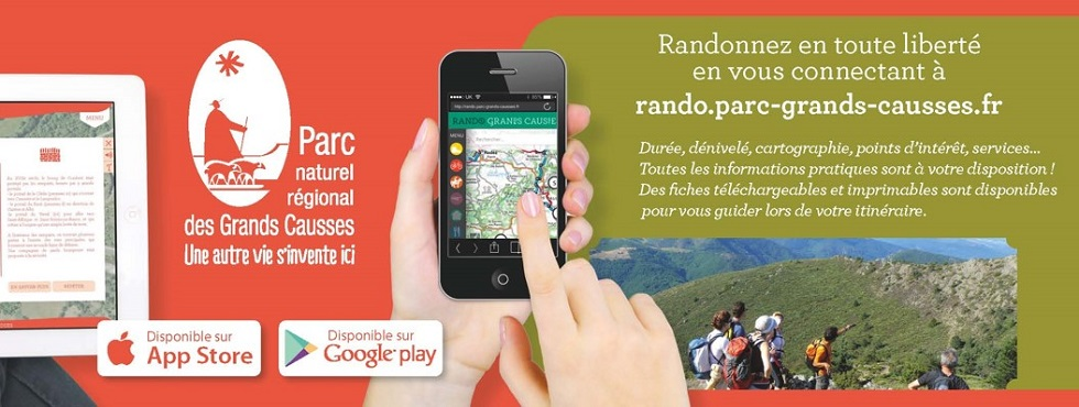 Application Parc naturel régional des Grands Causses